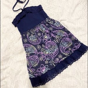 Justice paisley dress size 8